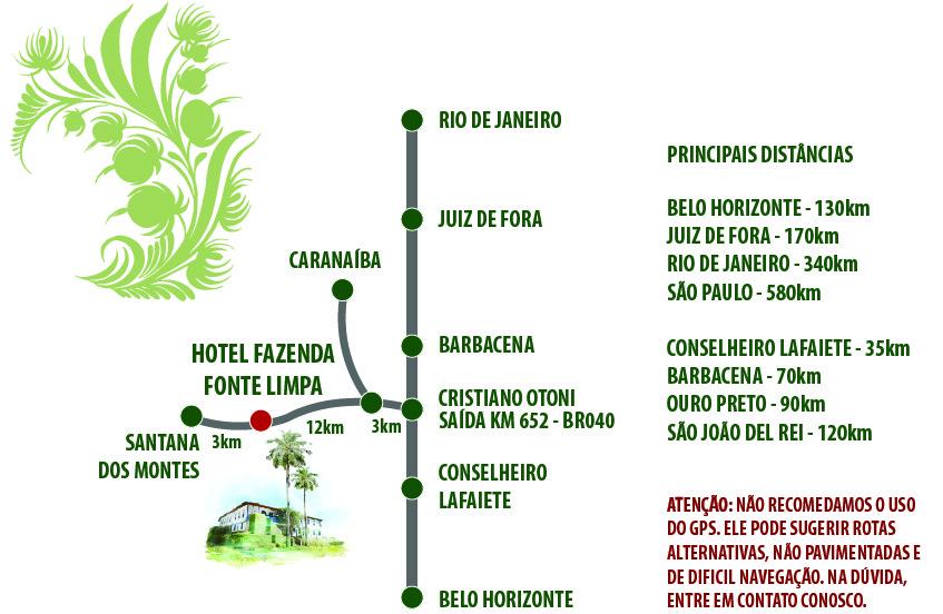 Mapa Hotel Fazenda Fonte Limpa